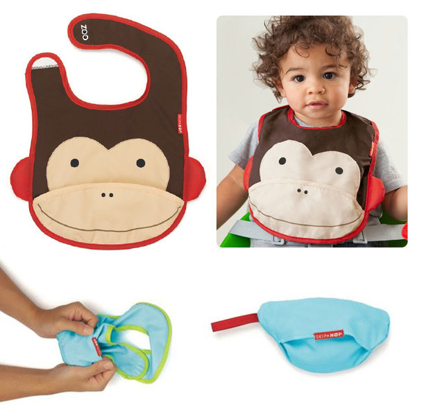 Skip Hop monkey tuck away bib