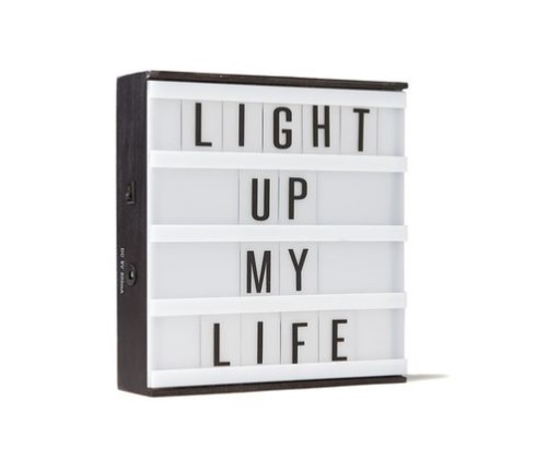 Typo lightbox - Christmas Gift Ideas for 10 year olds - Gift Grapevine