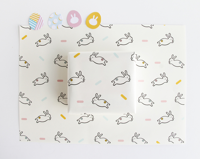 Bunny wrapping paper - Fantastic free Easter printables and craft ideas - GIft Grapevine