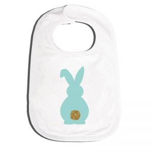 Easter bunny bling tail bib - mint - Easter gift guide for babies and kids - Gift Grapevine