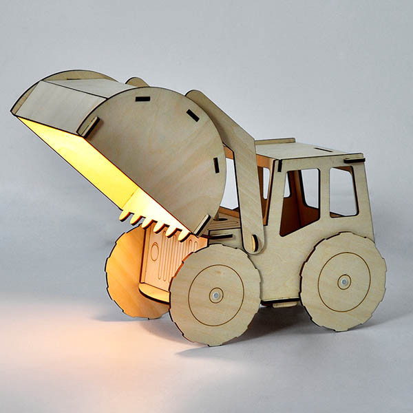 Excavator light - Gift Grapevine baby and kids gift idea picks - April 2016