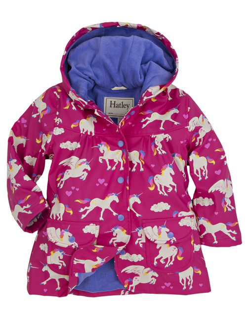 Hatley unicorns and rainbows rainjacket - 15 gift ideas for kids crazy about unicorns - Gift Grapevine