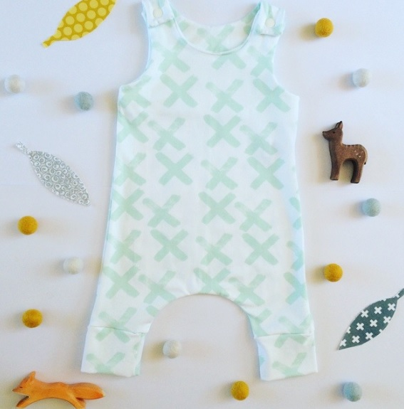 Minty Cross romper - Gift Grapevine baby and kids gift idea picks - April 2016