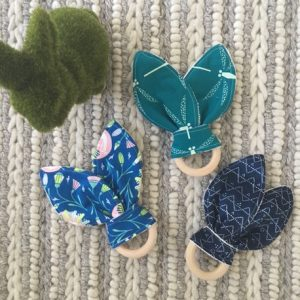 Soft bunny ear wood teethers - Easter gift guide for babies and kids - Gift Grapevine