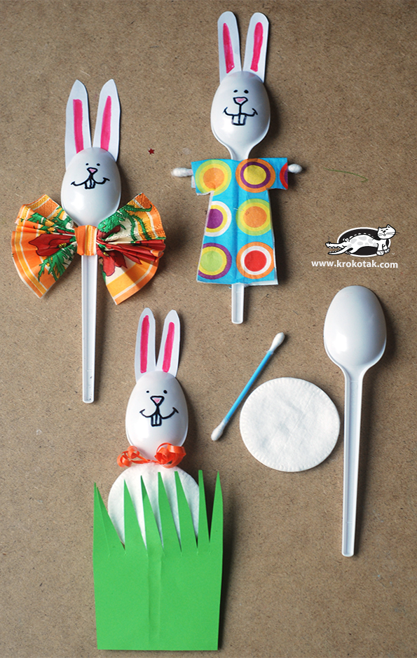 plastic spoon craft - Fantastic free Easter printables and craft ideas - GIft Grapevine