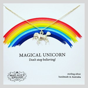 unicorn necklace - 15 gift ideas for kids crazy about unicorns - Gift Grapevine