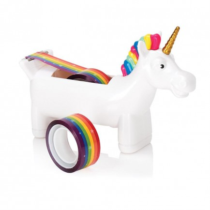 unicorn rainbow tape dispenser - 15 gift ideas for kids crazy about unicorns - Gift Grapevine