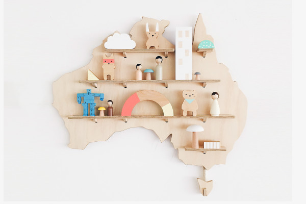 Australia Treasure Board - great shelving ideas for kids rooms - Gift Grapevine