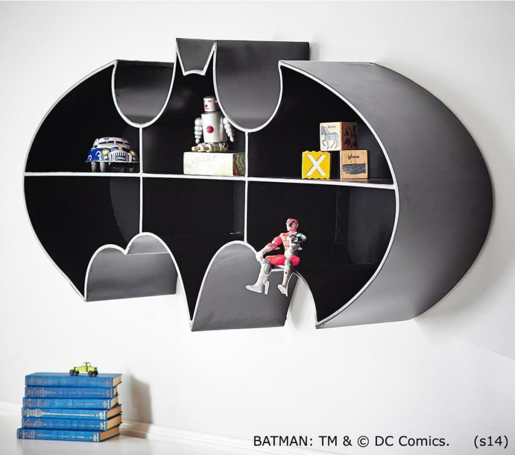 Batman shelf - great shelving ideas for kids rooms - Gift Grapevine