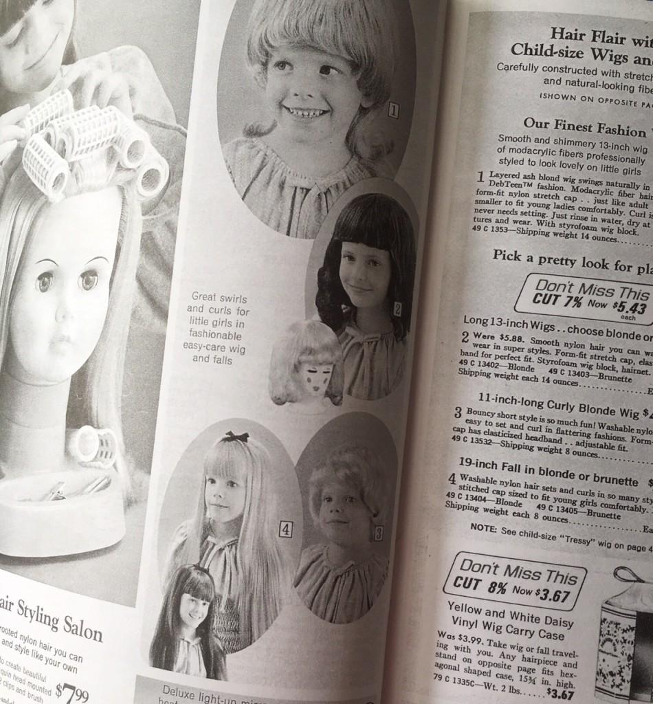 Gift Grapevine retro toys - girls wigs
