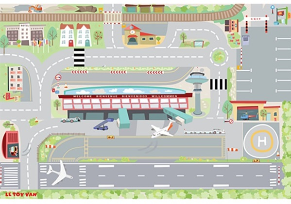 Le Toy Van First Airport Playmat - Gift Grapevine 8 fantastic activity rugs