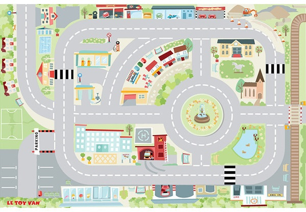 Le Toy Van First Town Playmat - Gift Grapevine 8 fantastic activity rugs