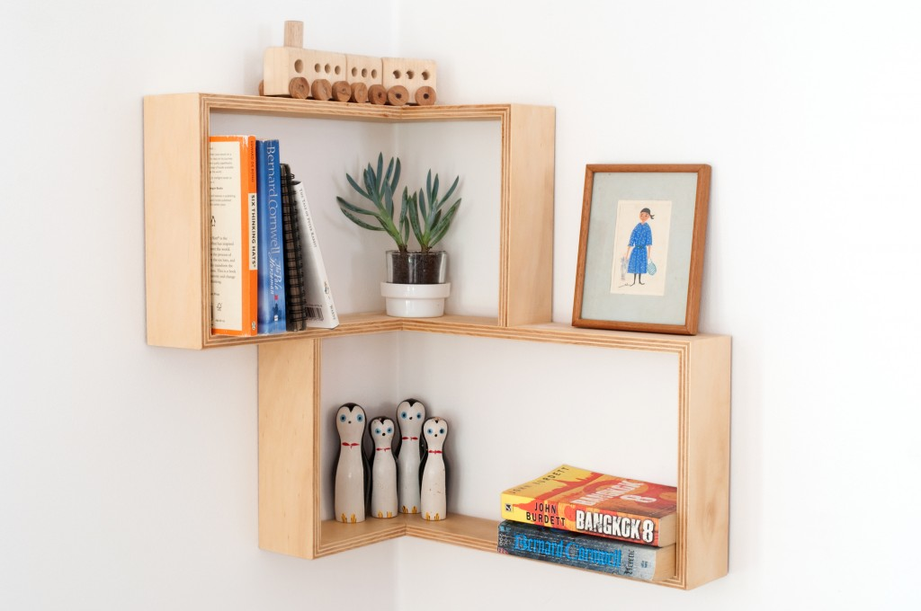 Senkki Furniture corner shelf - great shelving ideas for kids rooms - Gift Grapevine