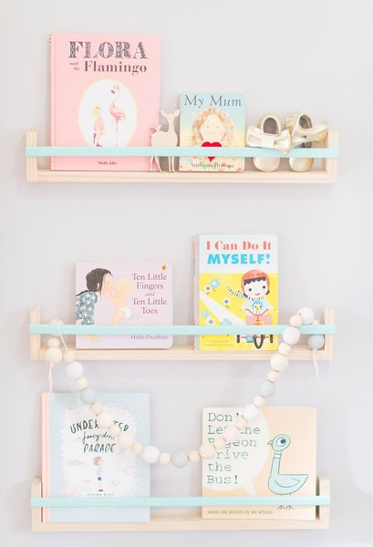 Timba Trend book shelves - great shelving ideas for kids rooms - Gift Grapevine