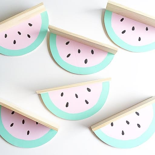 Watermelon shelf - great shelving ideas for kids rooms - Gift Grapevine