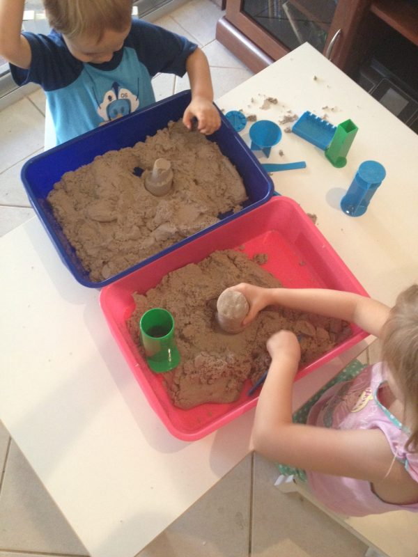 Kinetic Sand storage - Gift Grapevine toy storage ideas