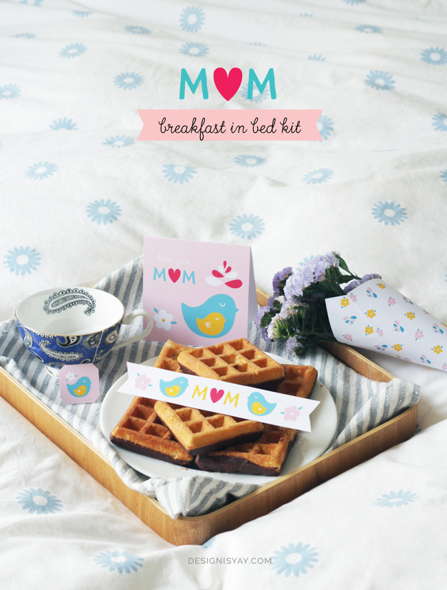 Mothers Day breakfast in bed - free mothers day printables - Gift Grapevine