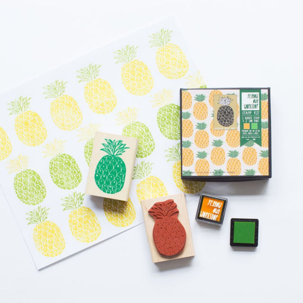 Pineapple stamp set - Gift Grapevine May baby and kids gift ideas