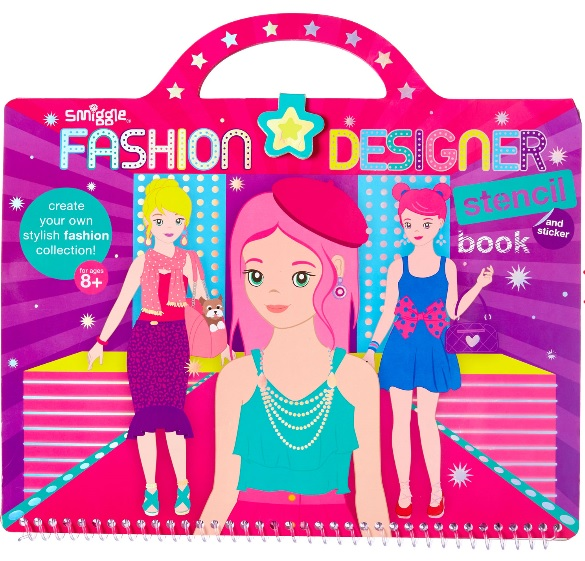 Smiggle fashion designer stencil book - Gift Grapevine May baby and kids gift ideas