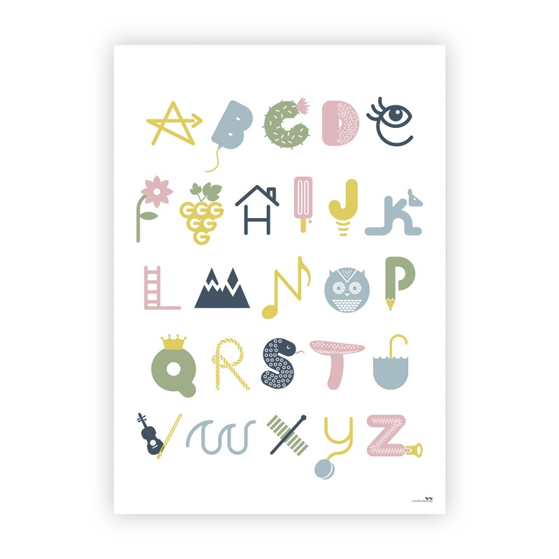 Two Little Ducklings alphabet print poster - Gift Grapevine May gift ideas