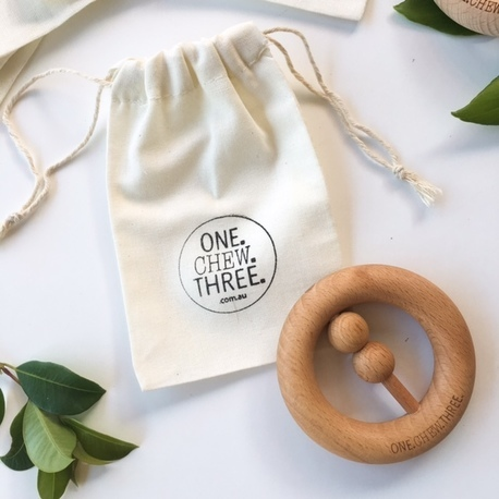 One Chew Three natural wood teether - Baby and kids gift ideas June 2016 - Gift Grapevine