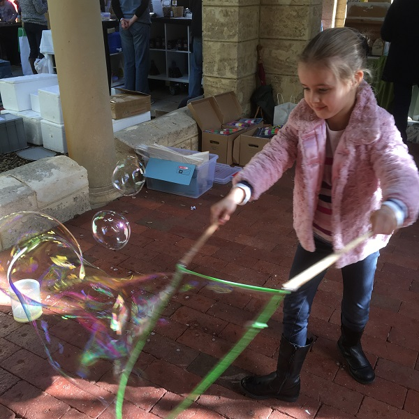 Perth Upmarket gift finds - Games To Go giant bubbles Miss T