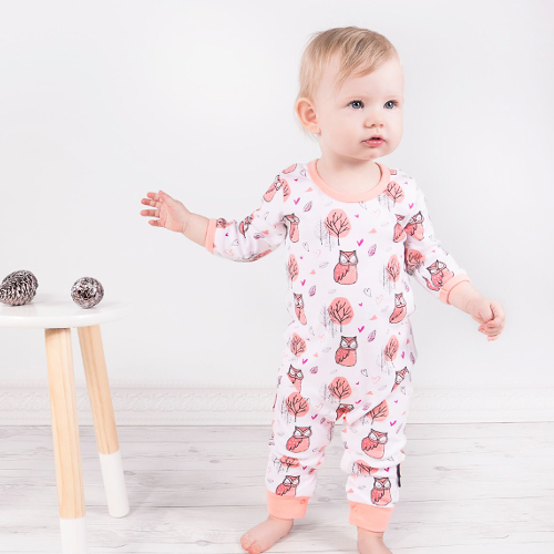 Aster and Oak woodland owl romper - Gift Grapevine baby and kids gift ideas July