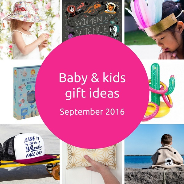 Gift Grapevine baby and kids gift ideas - September