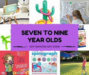 Gift Grapevine baby and kids gift guides - seven to nine year old