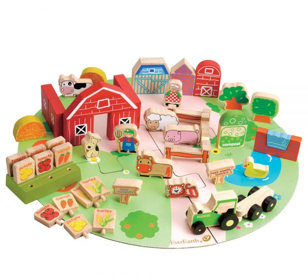 great-gifts-for-two-year-olds-everearth-organic-farm-block-set