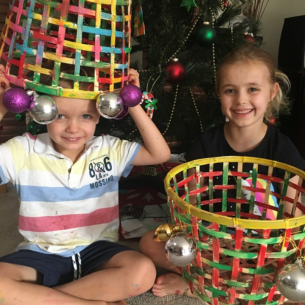 Christmas craft for kids – IKEA GADDIS basket hack