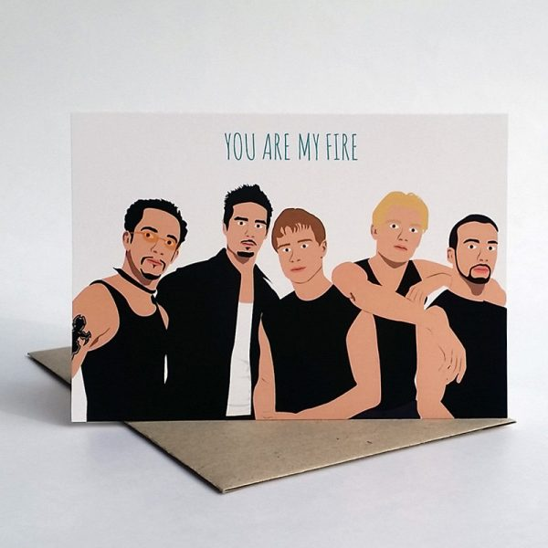 funny Valentine's Day cards - you are my fire