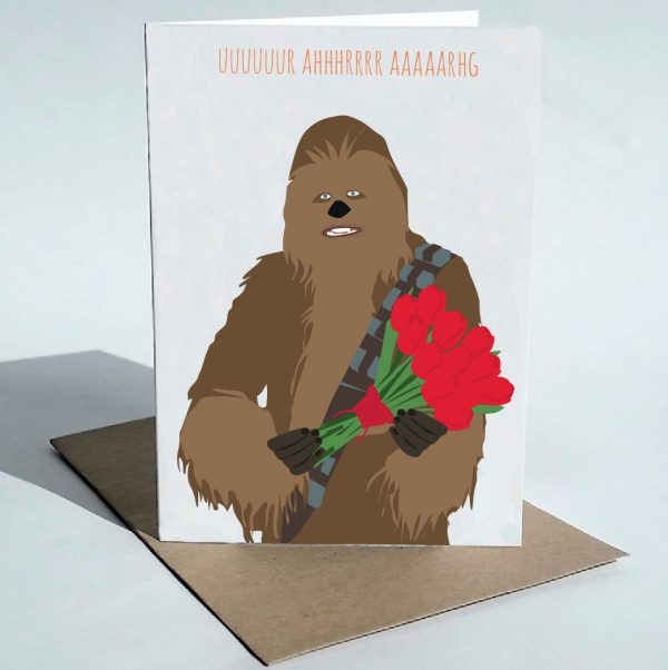 funny Valentine's Day cards - chewbacca