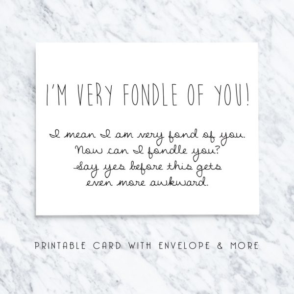 funny Valentine's Day cards - fondle