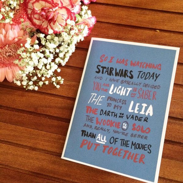 funny Valentine's Day cards - star wars