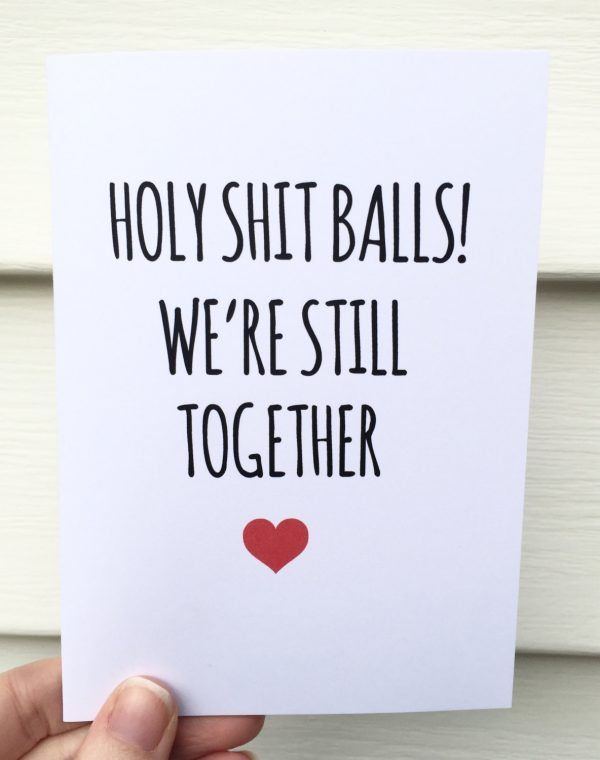 funny Valentine's Day cards - still together
