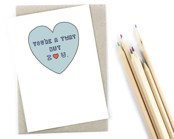 funny Valentine's Day cards - twat