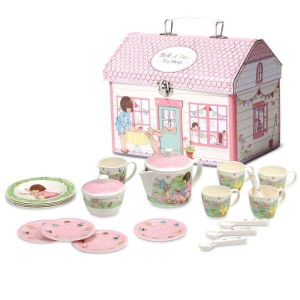 best kid's tea sets - Belle and Boo melamine box house set