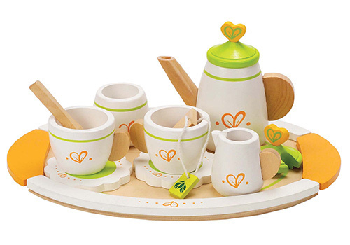 best kid's tea sets - Hape wooden tea set