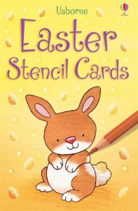 baby and kids Easter gift guide - Easter stencil cards