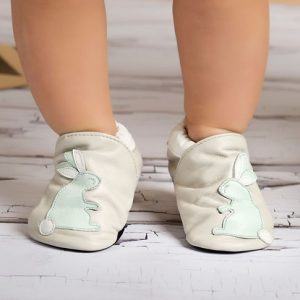 baby and kids Easter gift guide - leather bunny baby shoes