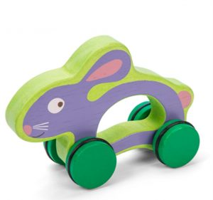baby and kids Easter gift guide - hunny bunny wooden racer