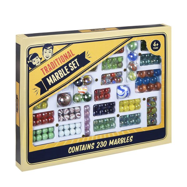 favourite schoolyard games - traditional marble set