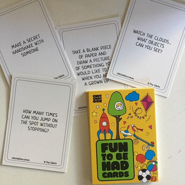 Chit Chat Box - fun to be had cards
