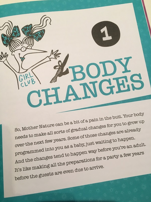 Girl Stuff 8 - 12 book review - Gift Grapevine - body changes