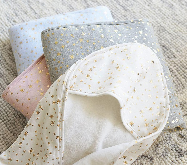 Bath time gifts for little ones - Jersey Metallic Nursery Wraps
