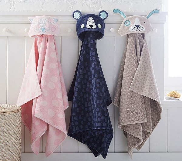 Bath time gifts for little ones - Organic Eco Chic Animal Bath Wraps