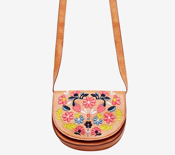 gift ideas for kids - Seed cross body embroidered saddle bag