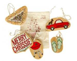 christmas themed gifts - Aussie ornaments 1