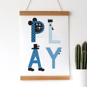 Baby gift ideas - play with us print